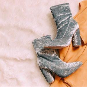 ✨Deal Of The Week✨KoKo | Teal Velvet Ankle Booties